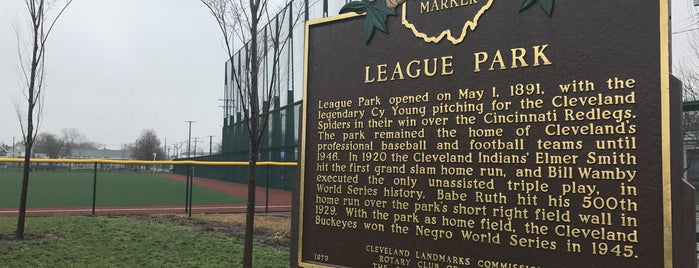 Cleveland's Historic League Park is one of Cleveland.