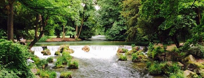 Wasserfall im Englischen Garten is one of 83'ın Beğendiği Mekanlar.