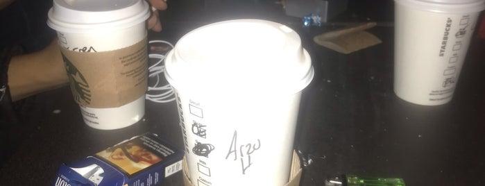 Starbucks is one of H 님이 좋아한 장소.