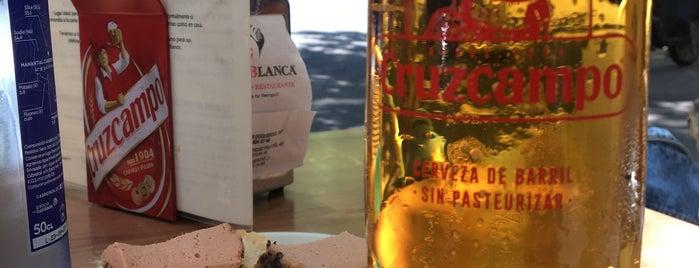 Cervecería Cruz Blanca is one of Madrid cañas y tal.