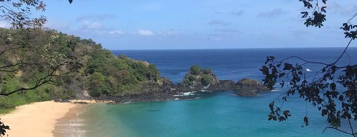 Praia do Sancho is one of Fernando de Noronha.