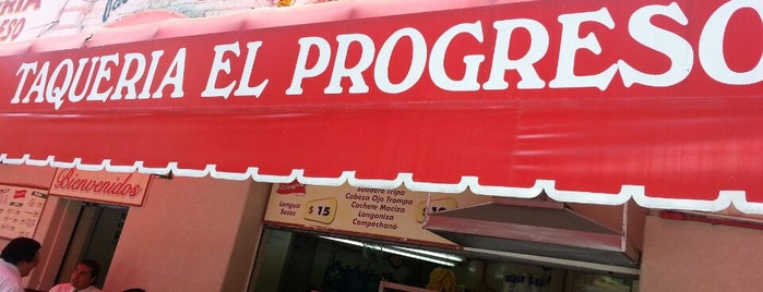 Taqueria El Progreso is one of Food/Drink Favorites: Mexico City.