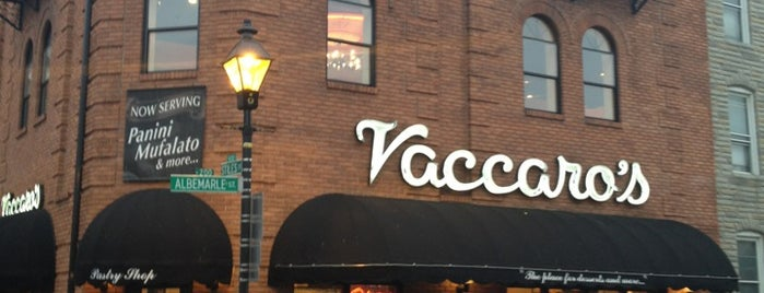 Vaccaro's Italian Pastry Shop is one of Baltimore.