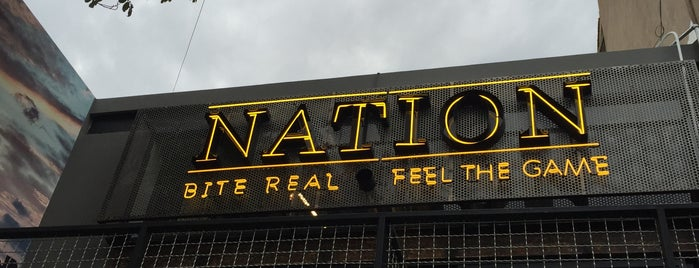 Nation - Sports Bar is one of Tempat yang Disukai Cristina.