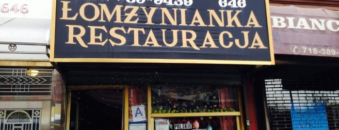 Lomzynianka is one of The Greenpoint List by Urban Compass.