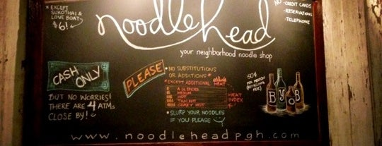 Noodlehead is one of Pittsburgh.