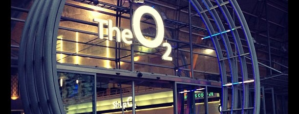 The O₂ is one of Places in london.