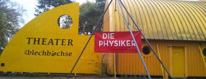 "das gelbe Theater ""Die Blechbüchse"" is one of Oostzeekust 🇩🇪."