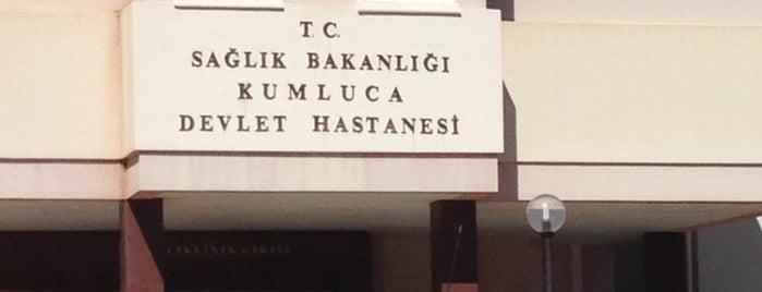 Kumluca Devlet Hastanesi is one of alev.