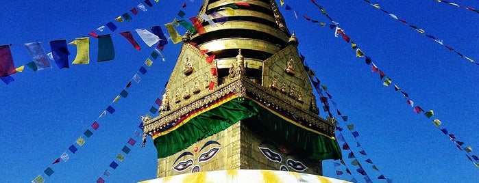 Swayambhunath Stupa is one of Yeti Trail Adventure.