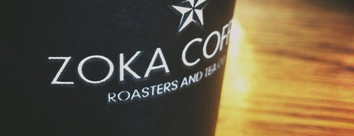 Zoka Coffee Roaster & Tea Company is one of Lost in Seattle.