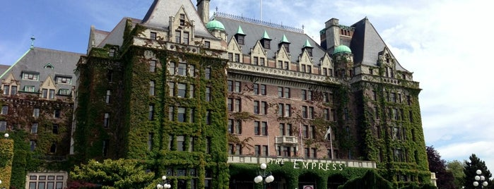 The Fairmont Empress Hotel is one of Victoria, BC.