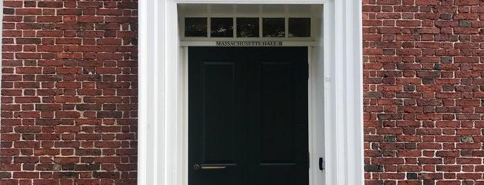 Massachusetts Hall is one of Gespeicherte Orte von Pablo.