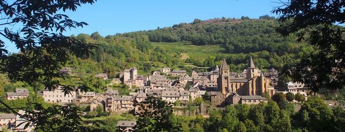 Conques is one of Les plus beaux villages de France.
