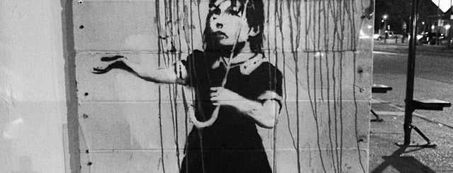 Banksy's Rain Girl is one of Eat. Play. Live..