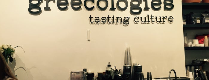 Greecologies is one of w/c lunch + coffee.