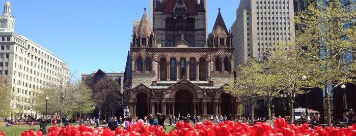 Copley Square is one of Boston in the fall!.