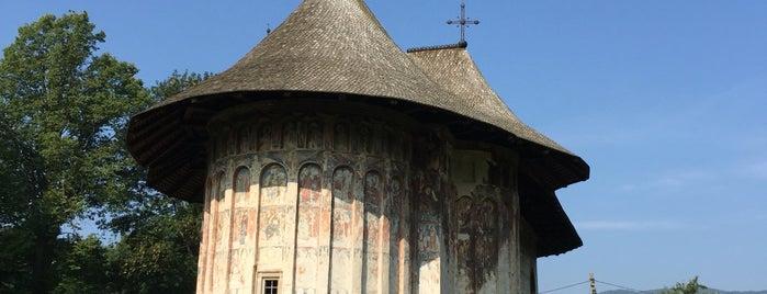 Biserica Mânăstirii Humorului is one of UNESCO World Heritage Sites in Eastern Europe.