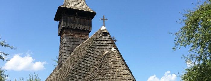 Biserica de lemn Sf. Arhangheli Manastirea is one of UNESCO World Heritage Sites in Eastern Europe.