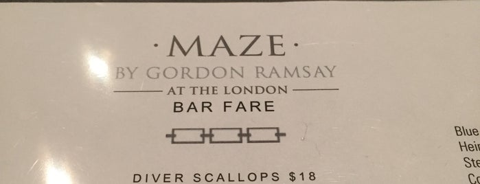Maze Restaurant is one of NYCrestWeek.