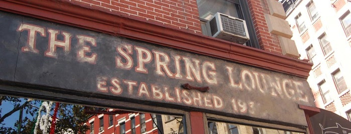 Spring Lounge is one of NYC Bars.