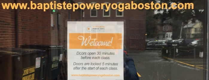 Baptiste Power Yoga Brookline Studio is one of Yoga Spots.