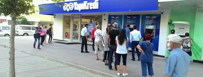Yapı Kredi Bankası is one of Tempat yang Disukai TARIK.