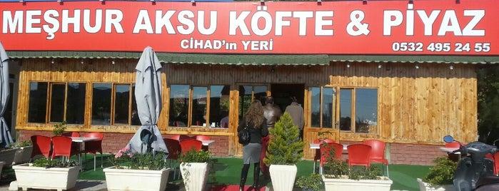 Cihat'ın Yeri Aksu Köfte Piyaz is one of Fatih'in Beğendiği Mekanlar.