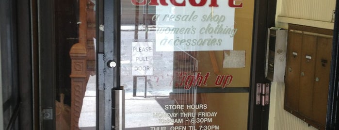 Encore Consignment Shop is one of 2012 - New York.