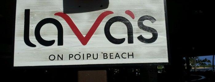 Lava's on Poipu Beach is one of Tempat yang Disukai Kelly.