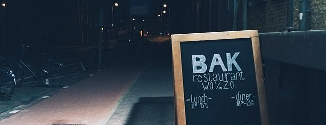 BAK restaurant is one of Amsterdam.