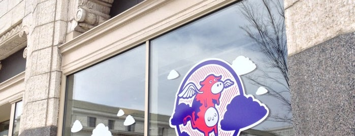 Flying Cow Frozen Yogurt is one of Where to eat and drink downtown.