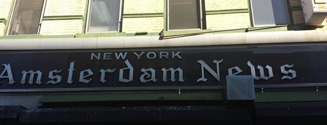 Amsterdam News is one of National Historic Landmarks in Northern Manhattan.