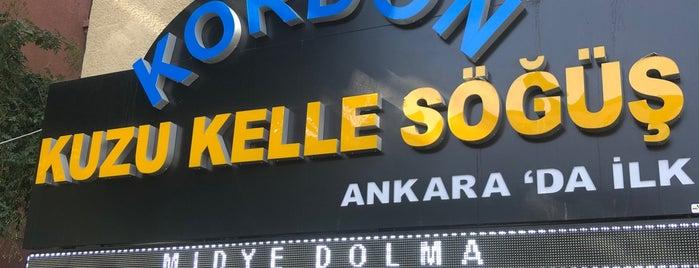 Şampiyon Kuzu Kelle Söğüş is one of Ankara.