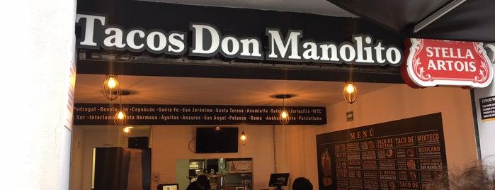 Tacos Don Manolito is one of Lugares con los mejores Clamatos en la CDMX.