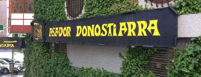 Asador Donostiarra is one of madrid..