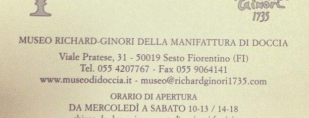 Museo di Doccia Richard Ginori is one of 101 posti da vedere a Firenze prima di morire.