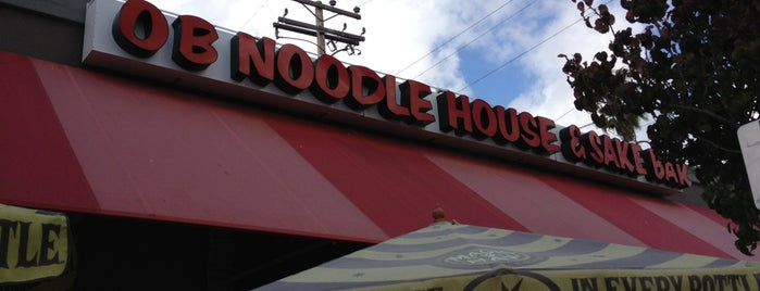 OB Noodle House & Sake Bar is one of Favorite Haunts Insane Diego.