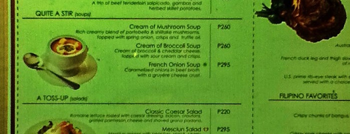 MESCLUN Restaurant & Bar is one of Food: Pasig.