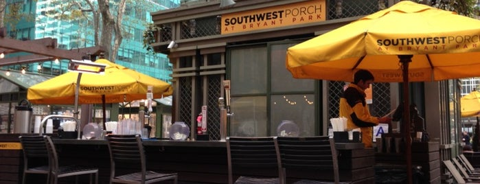 Southwest Porch at Bryant Park is one of Tempat yang Disukai Eric.