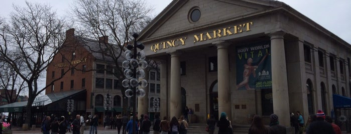 Faneuil Hall Marketplace is one of Boston.