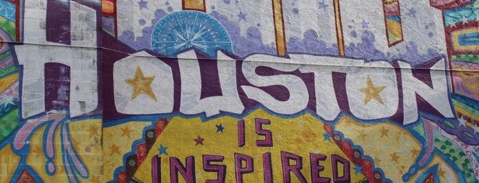 Houston Is Inspired Mural is one of Houston.