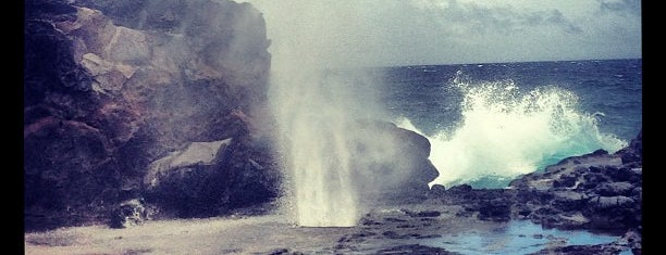 Nakalele Blowhole is one of Maui.