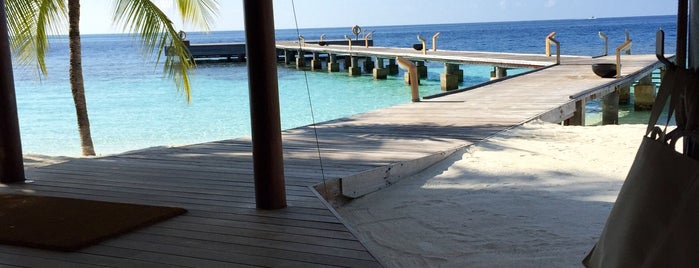 Diamonds Athuruga Beach&water villas is one of Maldivas.