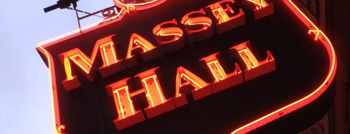 Massey Hall is one of Best Places to Catch Tunes in Canada.