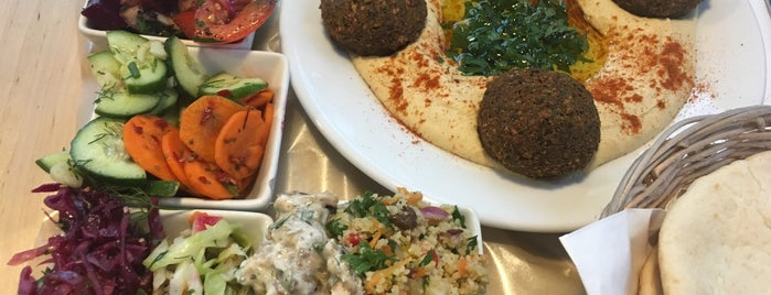 MEZZE hummus & falafel is one of Warsaw.