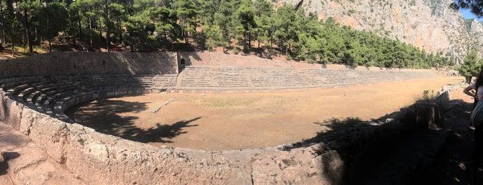 Ancient Stadium of Delphi is one of Jingyuan'ın Beğendiği Mekanlar.