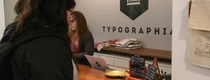 Typographia is one of Bo'nun Kaydettiği Mekanlar.