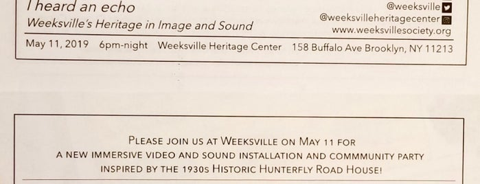 Weeksville Heritage Center is one of Colleenさんの保存済みスポット.