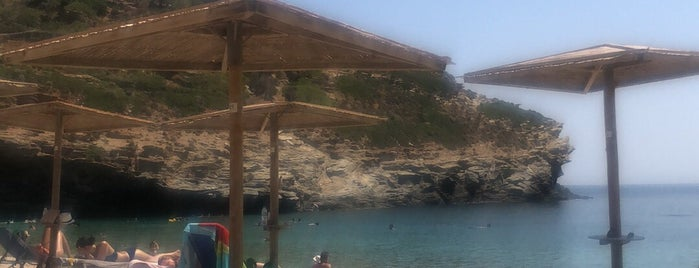 Vitali Beach is one of Andros.